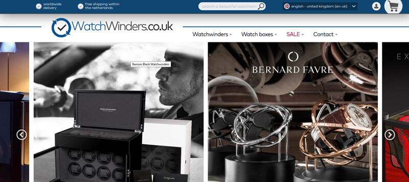 Watchwinders.co.uk - new shop